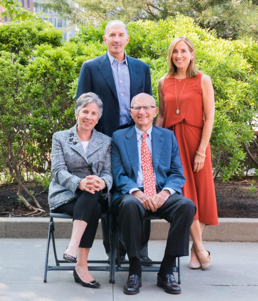 Co-Founder Richard Smith surrounded by his children Amy, Rob, and Deb, who serve as Foundation Co-Chairs.