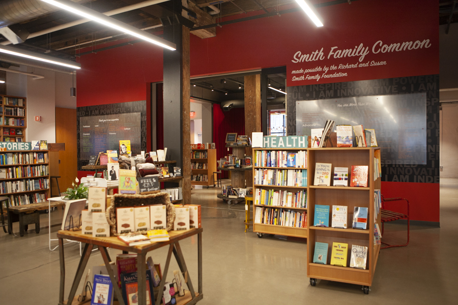 More Than Words' recently expanded bookstore in the South End of Boston, facing the Smith Family Common.